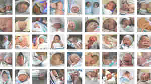 Last week, NPR  asked for photos of newborns with the pink-and-blue-striped  flannel blanket. We received close to 2,000 photos, from almost every state in  the U.S.
