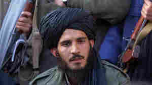 Tayyeb Agha at a Taliban press conference in November 2001 in Kandahar, Afghanistan.