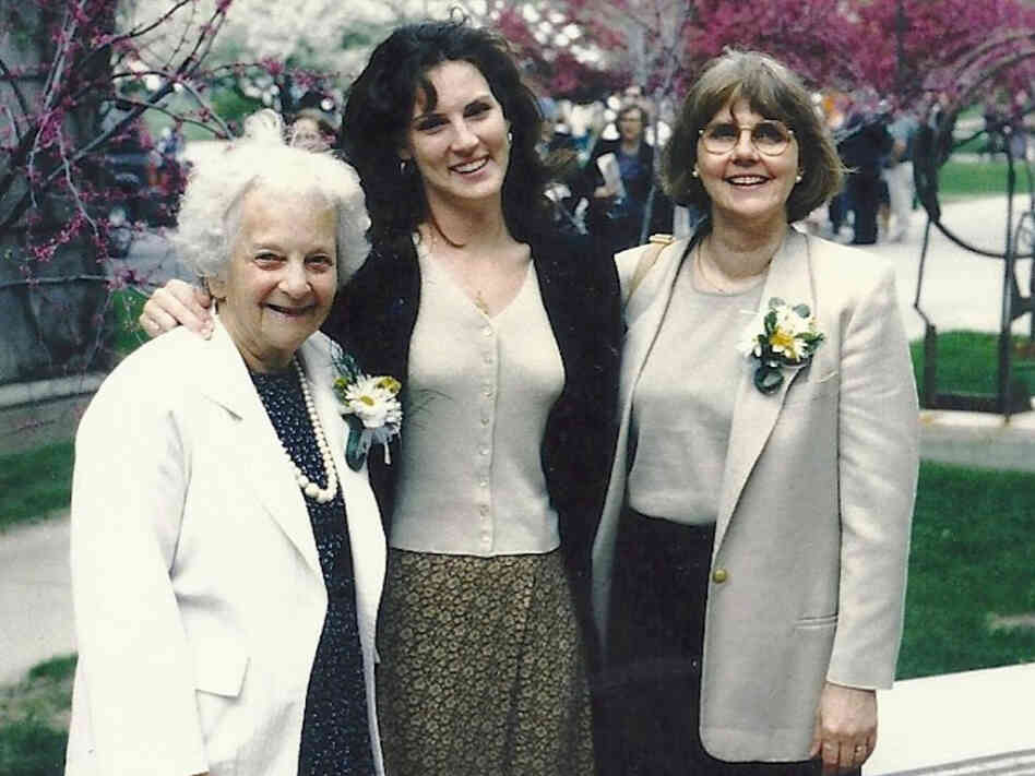 Kara with her grandmother and mother in 1995.