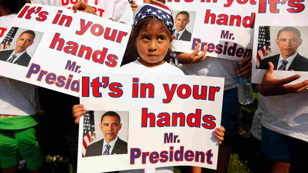 Last summer, dozens of U.S.-born children from across the country traveled to the White House with their undocumented parents to march and demonstrate against recent deportations. When President Obama ran for office, he promised to make comprehensive immigration reform a priority — a promise some say he hasn't fulfilled.