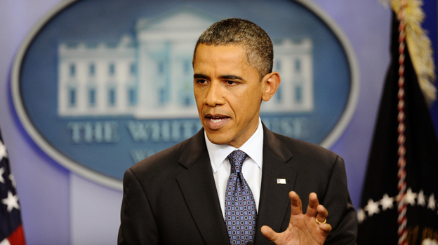 President Obama makes a statement Friday about the breakdown in talks with House Republicans over a deal to raise the debt ceiling and cut the budget deficit. (AFP/Getty Images)