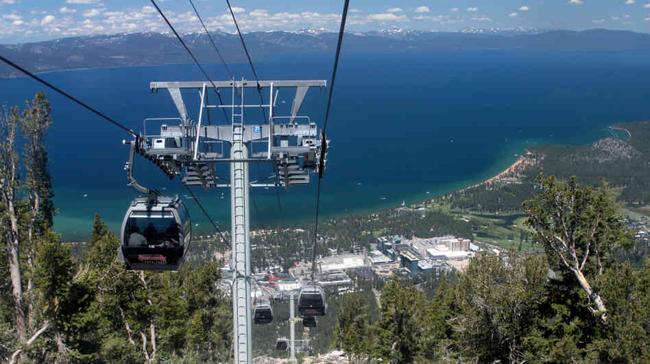 Two states protect lake tahoe but one eyes changes npr for Shore fishing lake tahoe
