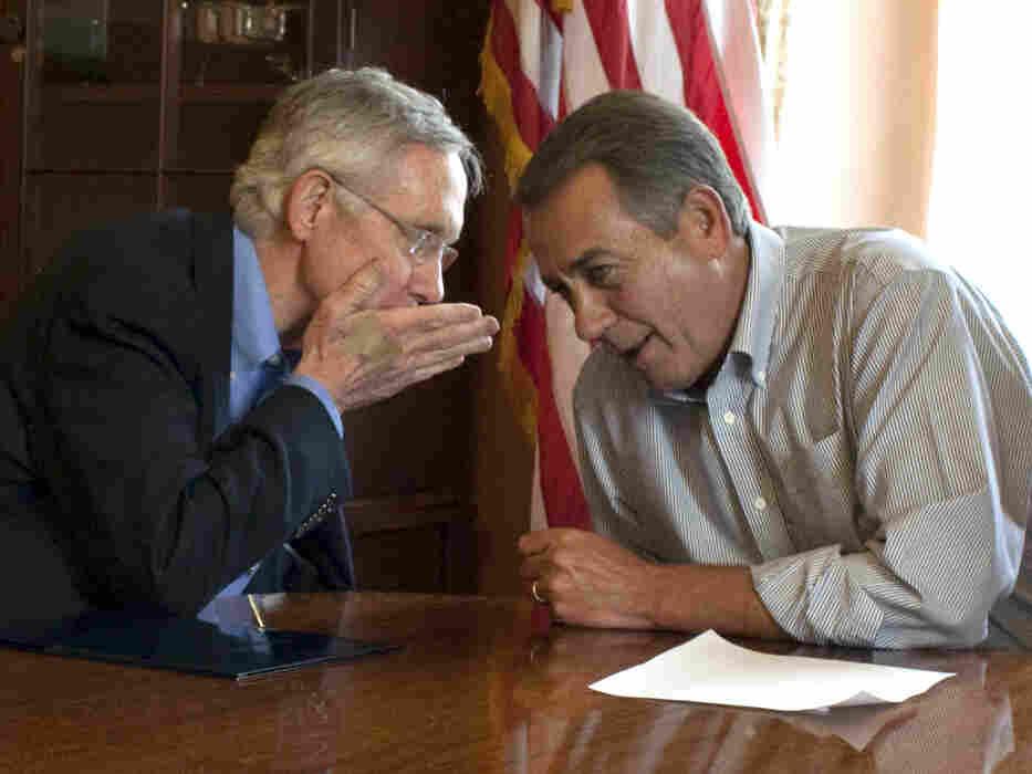 Sen. Harry Reid, the Senate majority leader, and Speaker John Boehner, on Capitol Hill, July 23, 2011.
