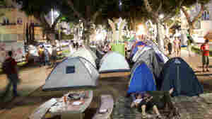 A tent camp has been set up on the promenade that lines Rothschild Boulevard, one of Tel Aviv's most expensive residential streets.