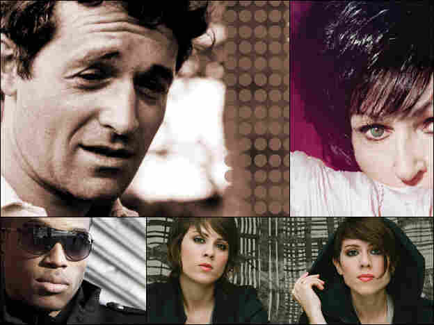 Clockwise from upper left: Ramblin' Jack Elliott, Wanda Jackson, Tegan and Sara, Trombone Shorty.
