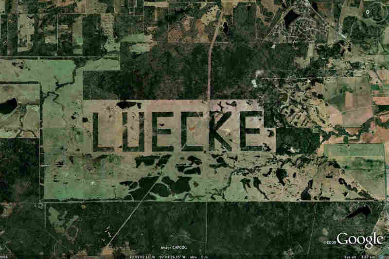 """According to NASA, this forest just outside Austin, Texas, was """"selectively cleared in order to spell the landowner's name 'LUECKE' with the remaining trees. According to local surveyors ... the plan was to create letters that were 3100 (by) 1700 ft.""""So why does NASA care? Their Image Science and Analysis Lab proposed th..."""