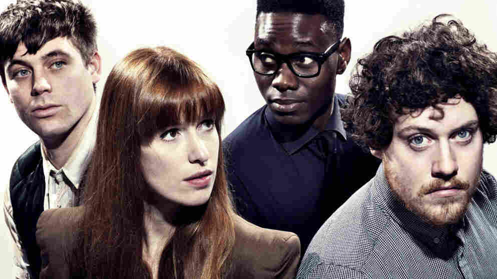 Metronomy, from left to right, Oscar Cash, Anna Prior, Gbenga Adelekan and Joseph Mount.