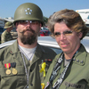 "Allied Gen. John Holme, aka ""Mad Kow"" (left), and Nicky Angel Valor are seen at the ""Invasion of Normandy"" paintball battle — the largest event of its kind in the world.  ""This is our Superbowl,"" Valor says."