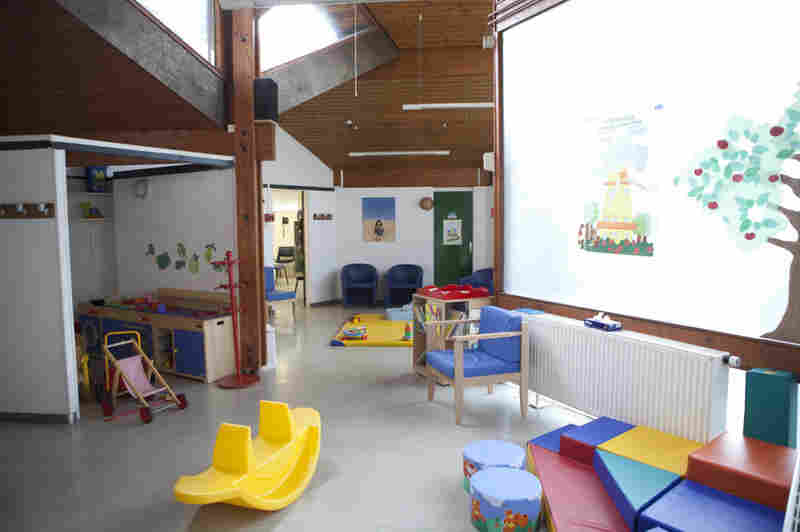 The waiting rooms at many PMI clinics in France, like this one in the southern Parisian suburb of Ris-Orangis, are important social meeting centers. Pediatric nurses often run nutrition and parenting classes while parents wait for their children to be seen.