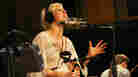 """Ellie Goulding sings """"Your Song,"""" which she dedicated to the late Amy Winehouse, at NPR headquarters in Washington D.C., on July 25."""