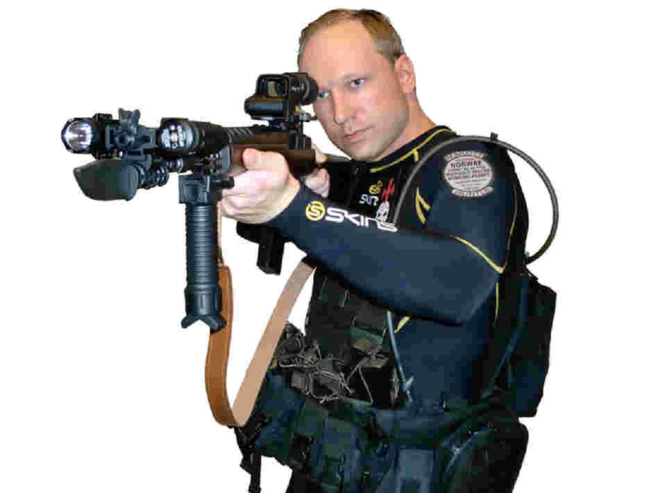 Anders Behring Breivik (shown in an undated video) is accused of killing at least 76 people in Norway. Scandinavian crime writers have focused on many of the social issues at play in Breivik's case.