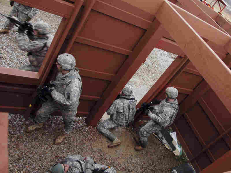 National Guard members train at the Camp Atterbury Joint Maneuver Training Center in Camp Atterbury, Ind., in this file photo from 2010.