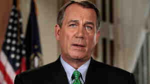 Speaker of the House Rep. John Boehner (R-OH) poses for photographs after his televised address to the nation about the federal budget and  debt ceiling crisis at the U.S. Capitol July 25, 2011.