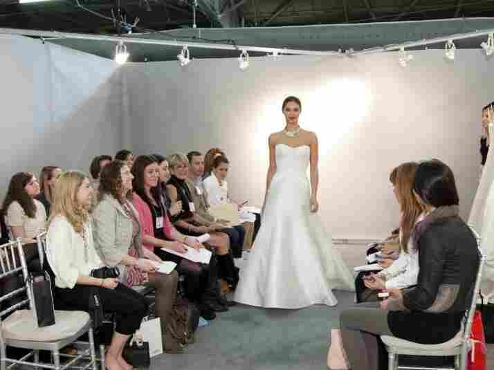A fashion show at New York International Bridal Week.