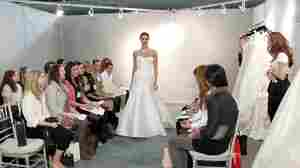 A fashion show at New York International Bridal Week.