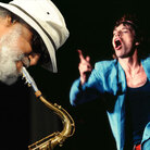 "The Saxophone Colossus (that's Sonny Rollins at left) played on The Rolling Stones' ""Waiting on a Friend."""