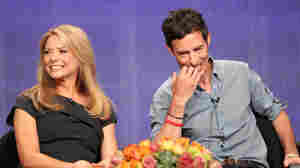 Actors Faith Ford and Tom Cavanagh speak during the presentation of Debbie Macomber's Trading Christmas at the Television Critics Association press tour on Wednesday.