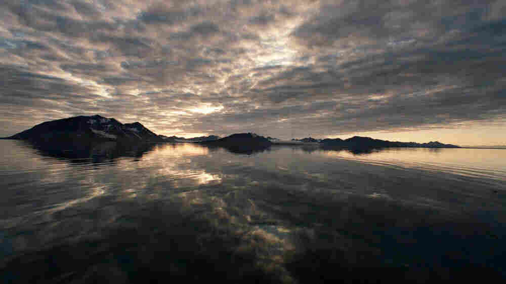 Svalbard, Norway: dark and cloudy.