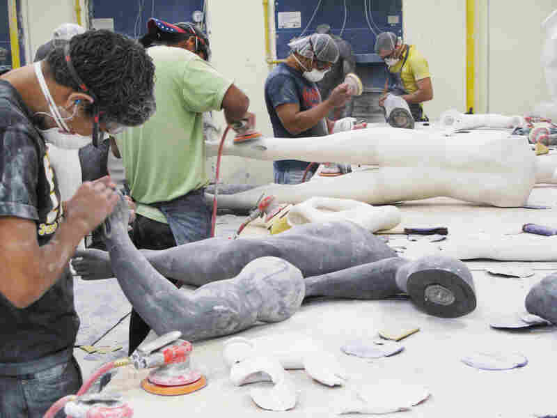 Workers at a maquiladora assembly plant in Juarez, across the border from El Paso, Texas, make mannequins. While other parts of Mexico are moving slowly out of the recent recession, the maquiladoras have been rapidly adding jobs and boosting exports to record levels.