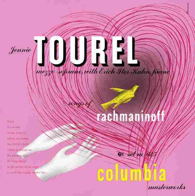 Steinweiss' cover for mezzo-soprano Jennie Tourel's Rachmaninoff recital album from 1946.