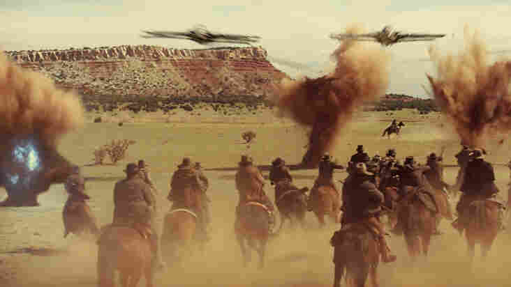 A Western Shootout — With Spaceships: Space invaders take on the Wild West in Jon Favreau's genre-crossing Cowboys & Aliens.