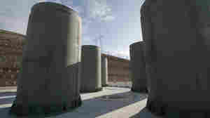 Above-ground casks at the Diablo Canyon nuclear power plant store some of the utility's nuclear fuel. Because of a lack of a central repository, nuclear waste is piling up at individual reactor sites across the United States.