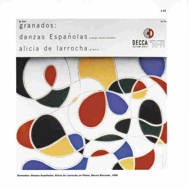 A striking reenvisioning of Moorish colors and shapes for this Alicia de Larrocha recording of Granados for Decca.
