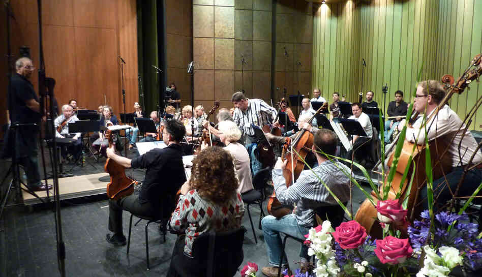 Conductor Roberto Paternostro leads a rehearsal with the Israel Chamber Orchestra on July 25, 2011 at the Bayreuth Festival in Germany.