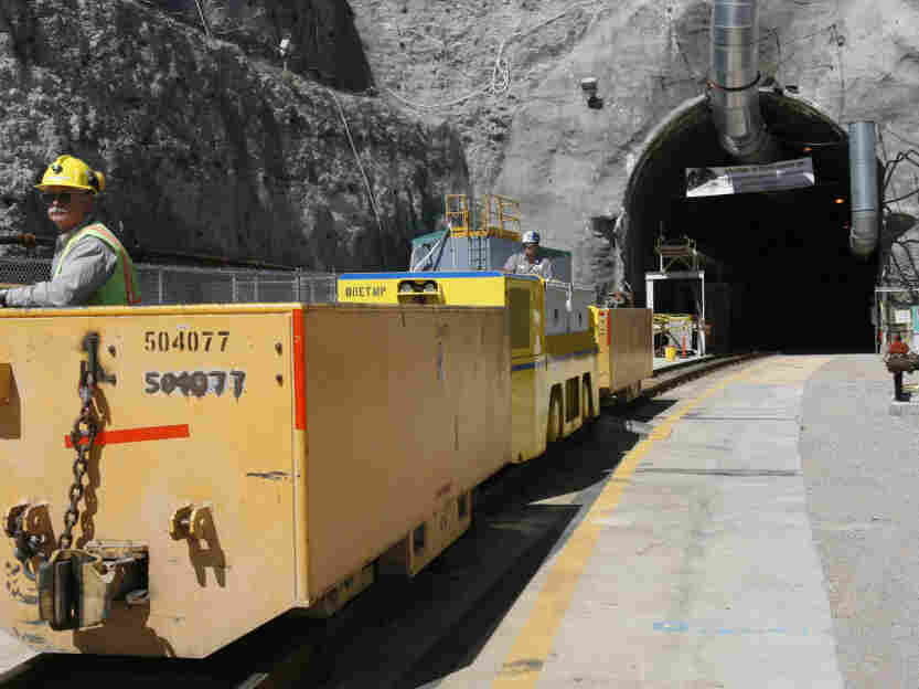 Last year, the Obama administration canceled plans to make Yucca Mountain the permanent storage site for the nation's nuclear waste. The half-built site is seen here in a file photo from 2006.