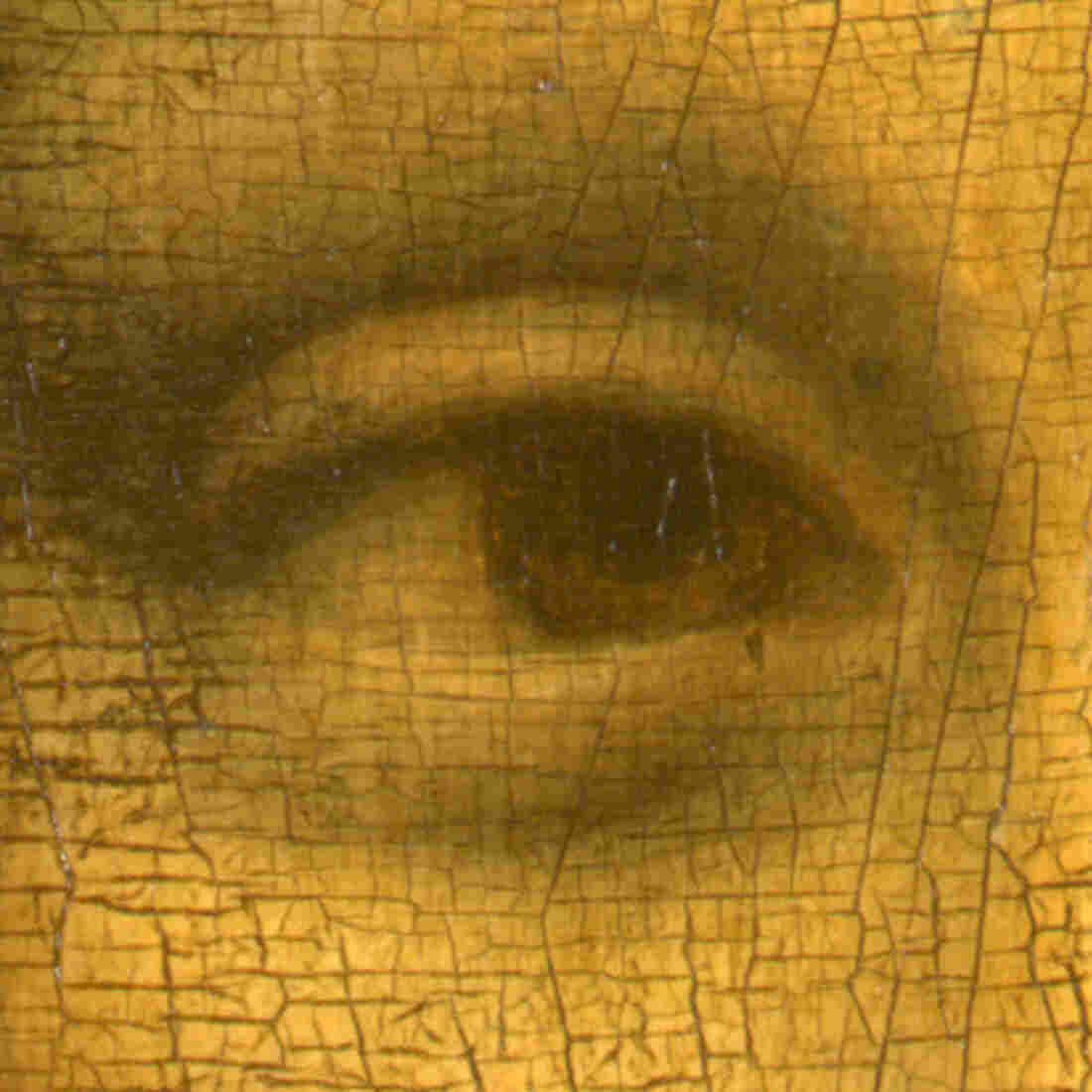 """The right eye of Leonardo da Vinci's """"Mona Lisa."""" On Aug. 21, 1911, the then-little-known painting was stolen from the wall of the Louvre in Paris. And a legend was born."""
