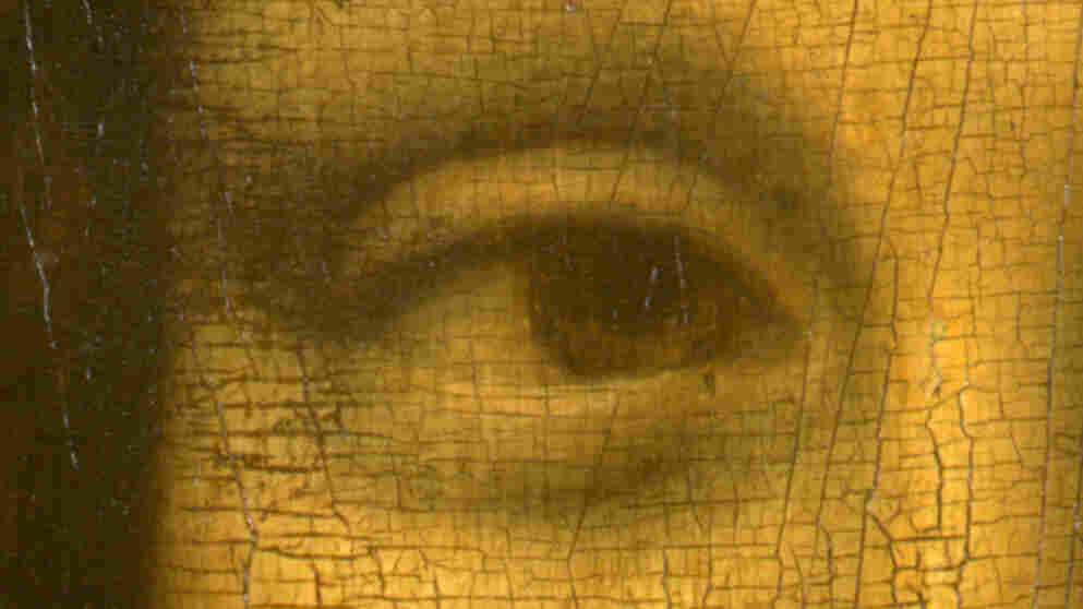 "The right eye of Leonardo da Vinci's ""Mona Lisa."" On Aug. 21, 1911, the then-little-known painting was stolen from the wall of the Louvre in Paris. And a legend was born."