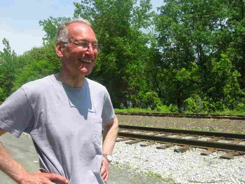 Archer Mayor is the author of nearly 25 Joe Gunther detective novels. In Occam's Razor, he sets a murder scene on these Brattleboro train tracks.