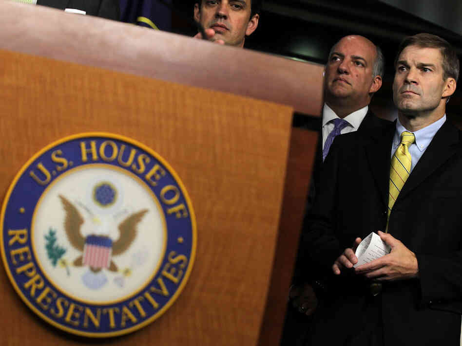 Rep. Jim Jordan (far right) at a Capitol Hill news conference, July 26, 2010.