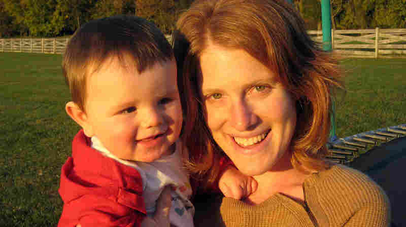 Alison MacAdam with her son, Abe, about eight months after she put this mix to use.