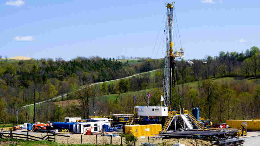 A natural gas drilling rig, near Burlington, Pa. So vast is the wealth of natural gas locked into dense rock deep beneath Pennsylvania, New York, West Virginia and Ohio that some geologists estimate it's enough to supply the entire East Coast for 50 years.