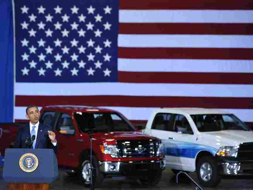 President Obama announcing new fuel efficiency standards for model years 2017-2025 cars and light trucks July 29, 2011.
