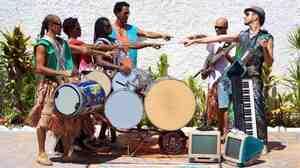 Percussivo Mundo Novo, a group whose Bahian beats are so good it hurts to listen.