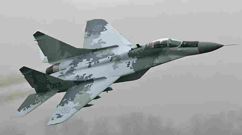 The Slovakian Mig 29 wears HyperStealth's Digital Thunder pattern.
