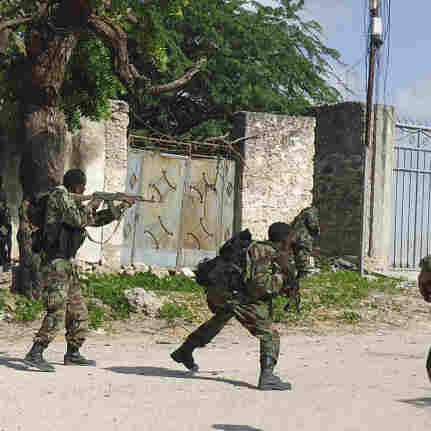 African Union and Somali troops launch an attack on al-Shabaab, a militant group linked to al-Qaida, in Mogadishu, Somalia, on Thursday in an effort to protect famine relief efforts, officials said. The World Food Program says it cannot reach 2.2 million people in need of aid in the militant-controlled areas in southern Somalia because of insecurity.