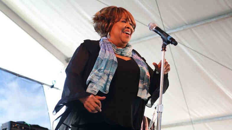 Mavis Staples performs at the 2011 Newport Folk Festival.
