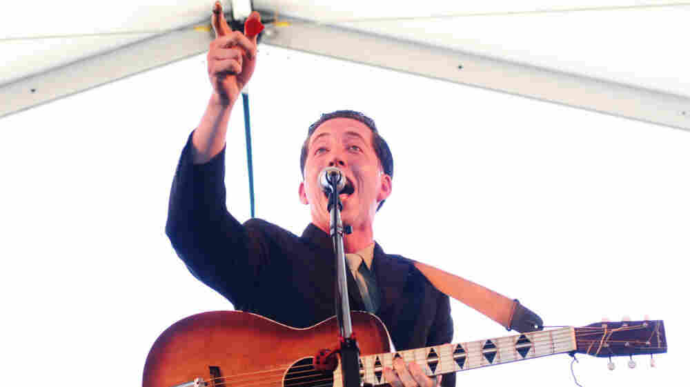 Pokey LaFarge performs at the 2011 Newport Folk Festival.