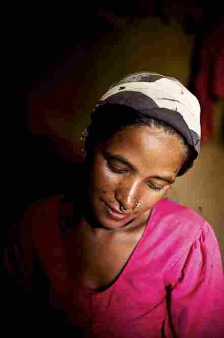 Maheshwori was married at 15 and gave birth to her first child, a girl, at 16. The birth occurred in a cow shed and took three days because the baby was breech. The community thought she would die.