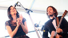 The Civil Wars play the Harbor Stage at The Newport Folk Festival on Sunday.