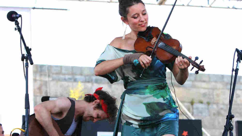 David Wax Museum performs at the 2011 Newport Folk Festival.