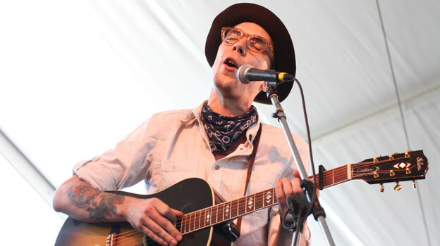 Justin Townes Earle performs at the 2011 Newport Folk Festival.