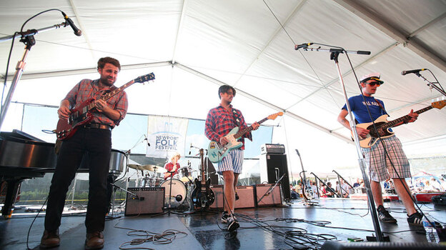 Middle Brother plays the Quad Stage at Newport Folk Fest on Sunday. ( )
