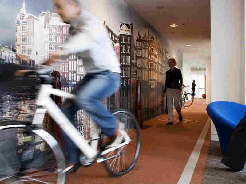 Google's Netherlands Office has an indoor bike lane.