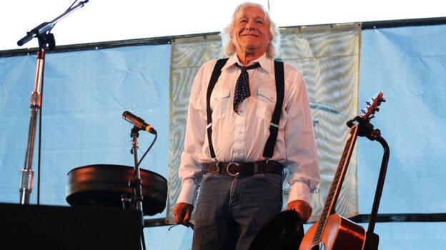 Ramblin' Jack Elliot performs at the 2011 Newport Folk Festival.