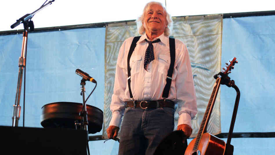 Ramblin' Jack Elliot performs at the 2011 Newport Folk Festival.