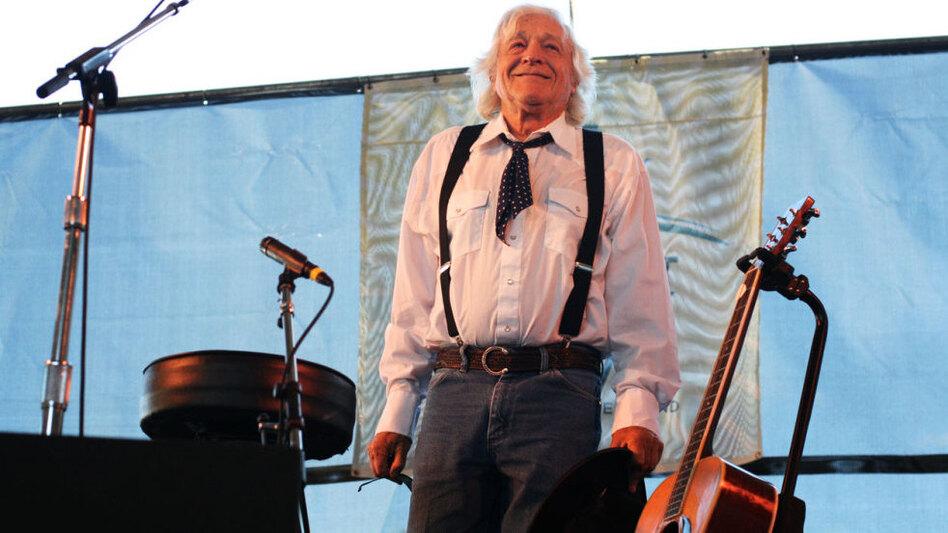 Ramblin' Jack Elliot performs at the 2011 Newport Folk Festival. (Shantel Mitchell for NPR)